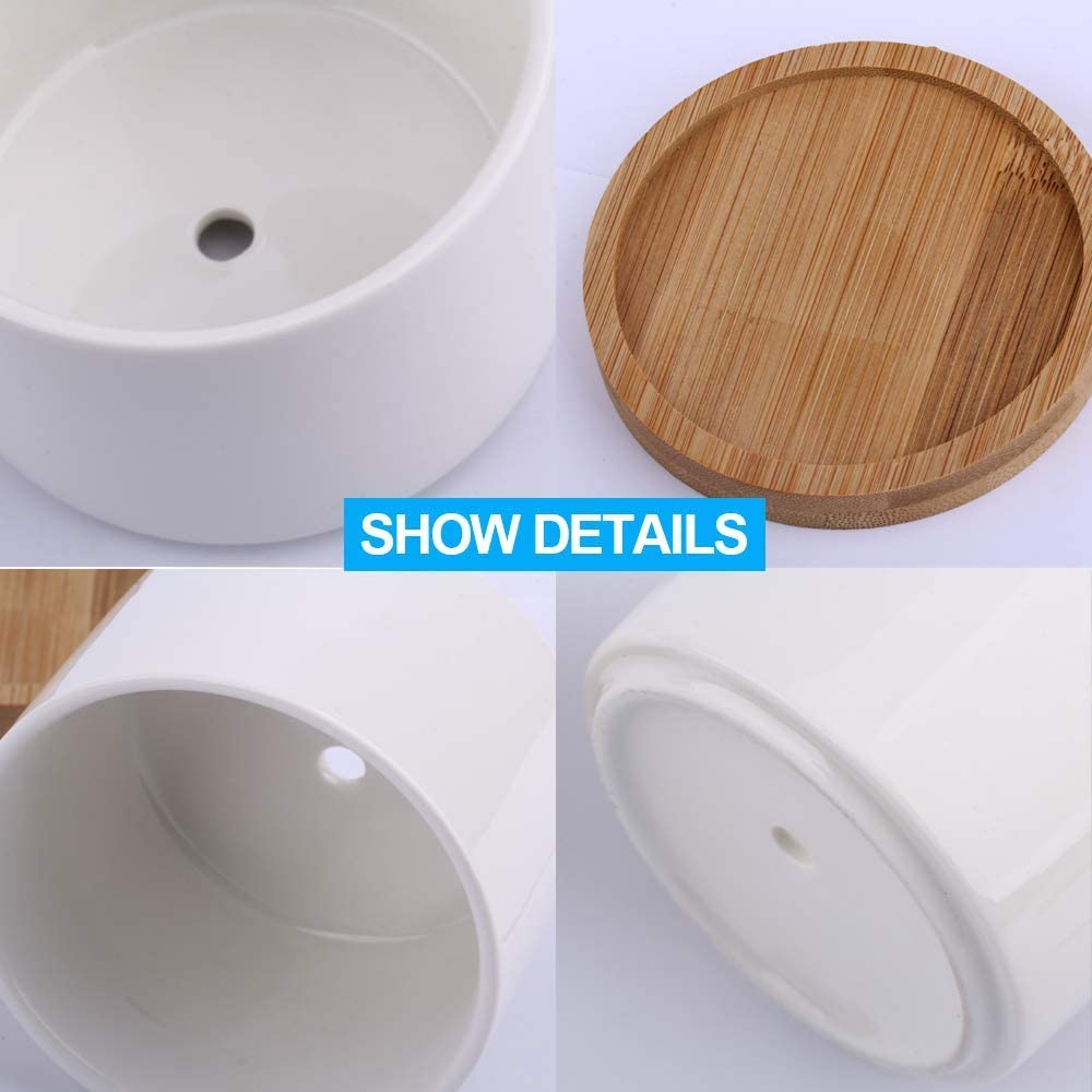 Herb Planter with Drainage Hole and Tray Pack of 5 ZOUTOG 3//3.5//4 // 4.5//5.3 Inch Multi Size Plastic Plant Pots Small Pots for Plants Plants not Included